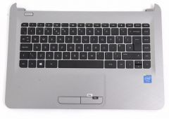 HP Top cover/keyboard PT  Turbo Silver - 813915-131