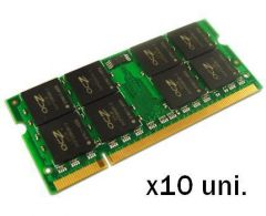 Pack de 10 unidades SO-DIMM PC2-5300 1GB